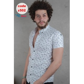 قميص نص كم هاوى ليكرا ابيض
